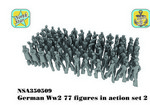 NSA350509 German WW2 figures in action set 2