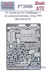 OKB-P72008 Details for Challenger 1, 1st armored division, Iraq 1991 (Revell/ACE)