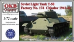 OKB-V72032 Soviet Light Tank T-50, Factory No. 174  Chkalov, 1941-42