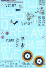 PRS32-013 Decal for Hurricane MK I Aces. The battle of Britain