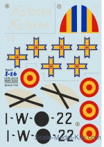 Decals / Mask: Decal for Polikarpov I-16, part 2, Print Scale, Scale 1:32