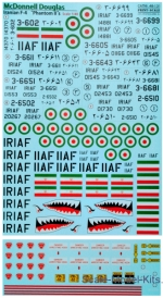 PRS48-131 Decal for McDonnell Douglas F-4 Phantom IIs Iranian