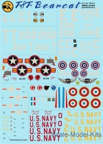 Decals / Mask: Decal for F8F Bearcat, Print Scale, Scale 1:72