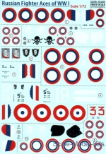 PRS72-220 Decal for Russian Fighter Aces of WWl