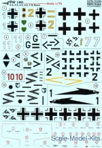 PRS72-230 Decal for Fw 190 A-3, A-4, A-5, A-6, F & Recon