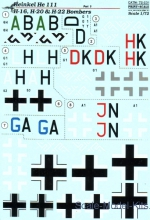 PRS72-231 Decal for He 111 H-16, H-20 & H-22 bombers