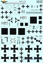 Decals / Mask: Decal for Albatros D.I & D.II Aces of WWI, Print Scale, Scale 1:72