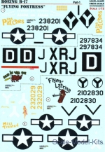 PRS72-236 Decal for Boeing B-17 Flying Fortress