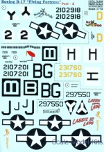 PRS72-239 Decal for Boeing B-17 Flying Fortress, part 2