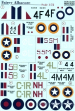 PRS72-243 Decal for Fairey Albacore