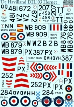 PRS72-244 Decal for De Havilland DH.103