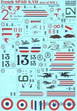 PRS72-259 Decal for French SPAD S.VII