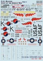Decal for F-51 Mustang, Korean war, part 1