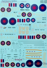 PRS72-284 Decal for Supermarine Spitfire V1