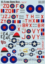 PRS72-288 Wet decal for V-1 Flying Bomb Aces, part 4
