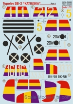 PRS72-292 Decal for Tupolev SB -2