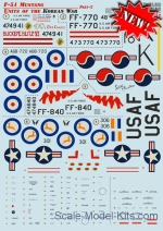 PRS72-300 Decal for F-51 Mustang, Korean War, part 2