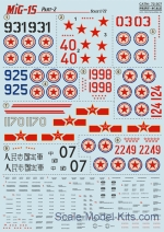 PRS72-307 Decal for MiG-15 bis, part 2
