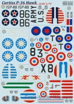 PRS72-315 Decal for Curtiss P-36 Hawk