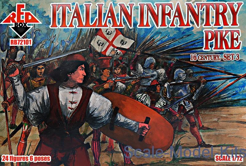 Italian infantry 16 century, set 3