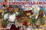 RB72082 English sailors in battle, 16-17th century