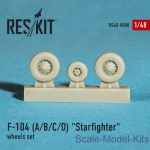 RS48-0008 Wheels set for F-104 (A/B/C/D) Starfighter (1/48)