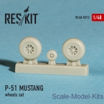 RS48-0012 Wheels set for P-51 Mustang (1/48)