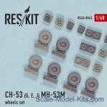 RS48-0063 Wheels set for CH-53G/E/J, MH-53M