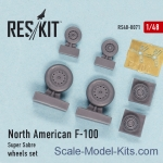 RS48-0071 Wheels set for North American F-100