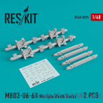 RS48-0095 Multiple Bomb Racks MBD3-U6-68 set for (Su-17, Su-24, Su-30, Su-34, Su-35) (2 pcs)