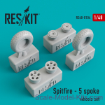 RS48-0104 Wheels set for Spitfire (5 spoke wheels)