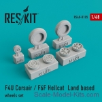 RS48-0105 Wheels set for F4U