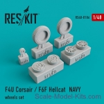 RS48-0106 Wheels set for F4U