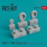 RS48-0111 Wheels set for Yak-1 / Yak-3