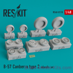 RS48-0118 Wheels set for B-57 Canberra (type 2)