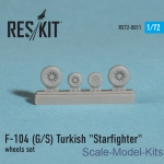 RS72-0011 Wheels set for F-104 (G/S) Turkish Starfighter (1/72)