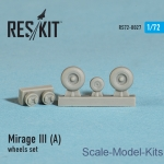 RS72-0027 Wheels set for Mirage III (A) (1/72)