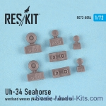 RS72-0054 Wheels set for Uh-34 Seahorse / Westland Wessex (NAVY versions)
