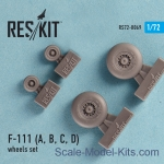 RS72-0069 Wheels set for F-111 (A, B, C, D)