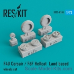 RS72-0105 Land based wheels set for F4U