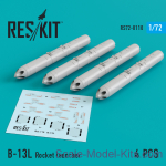 RS72-0110 B-13L Rocket launcher (4 pcs) for (Su-17/24/25/30/34,  MiG-27/29, YAK-130)