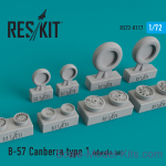 RS72-0117 Wheels set for B-57 Canberra (type 1)