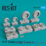 RS72-0118 Wheels set for B-57 Canberra (type 2)