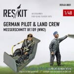 RSF48-0001 German pilot & land crew Messerschmitt Bf.109 (WW2)