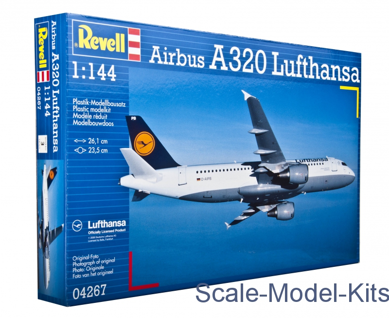 revell airbus a320 lufthansa plastic scale model kit in 1 144