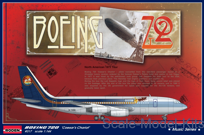 Boeing 720 'Caesar's Chariot' Led Zeppelin North American tour