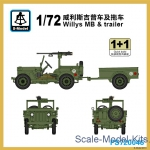 SMOD-PS720046 Willys MB with trailer