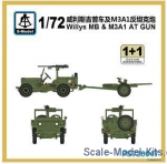 SMOD-PS720047 Willys MB with 37MM AT Gun