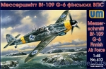 UM432 Messerschmitt Bf-109G-6, Air Force Finland