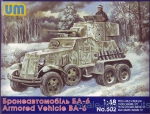 Troop-carrier armor: BA-6 Soviet armored vehicle, UniModels, Scale 1:48